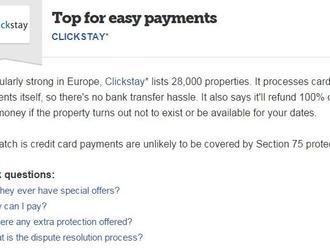 MoneySavingExpert recommends Clickstay!