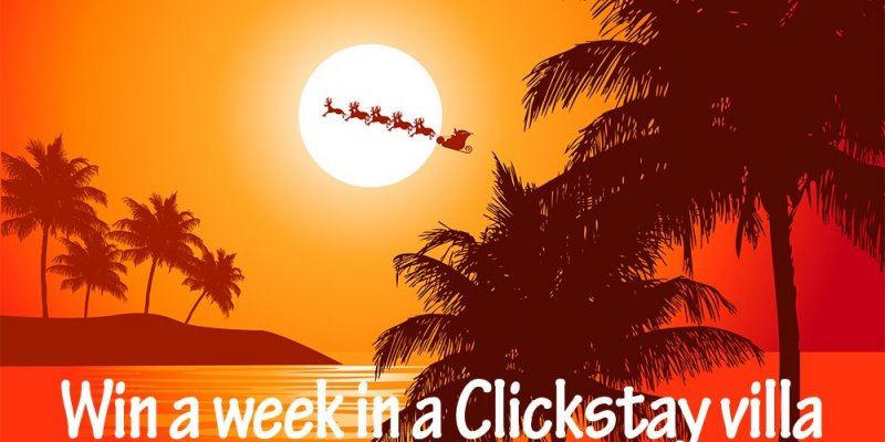The 12 days of Clickmas - win a week's villa holiday!
