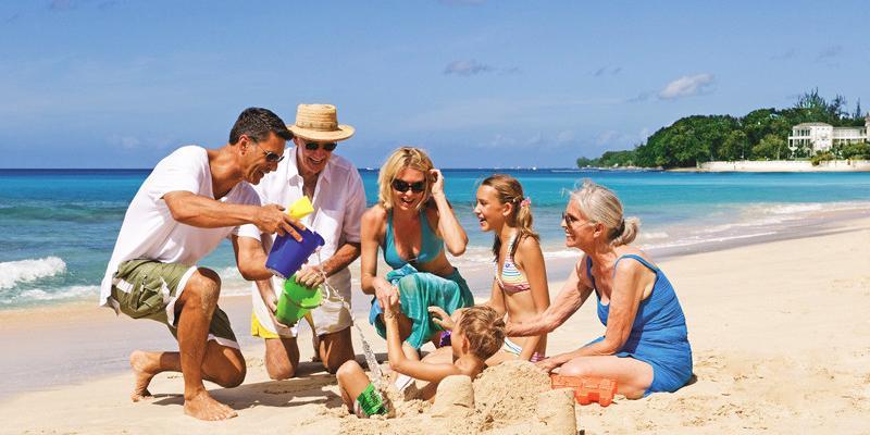 Family holidays on the beach