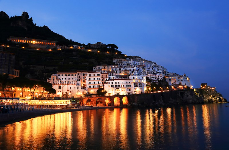Amalfi Coast at night