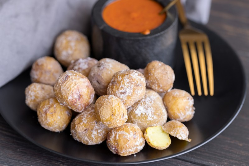 Papas Arrugadas (wrinkly potatoes with salt)