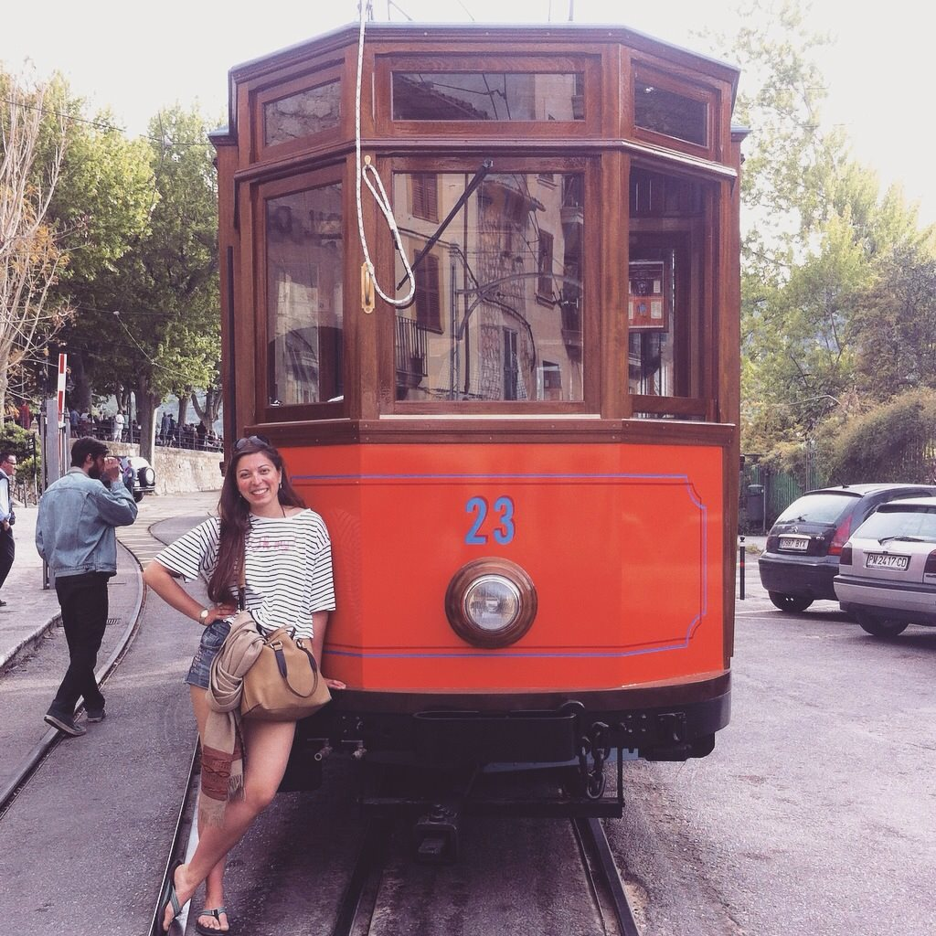 Old tram down to Port de Soller, Mallorca