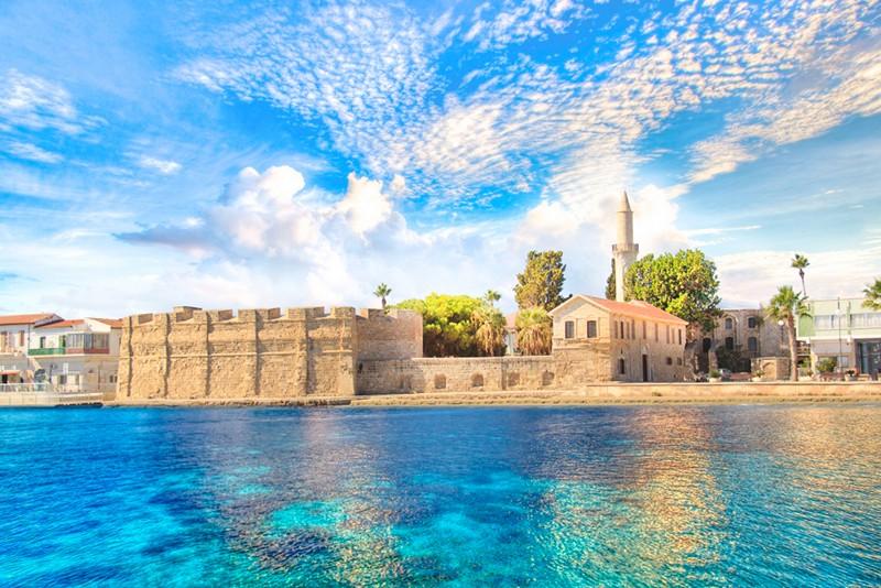 Blue sky in Larnaca