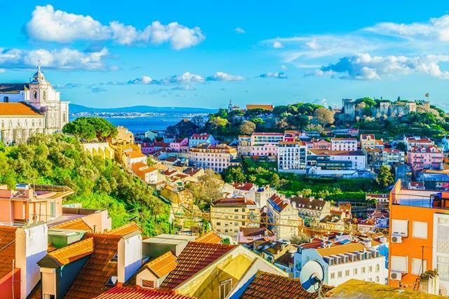 Lisbon skyline on a sunny day