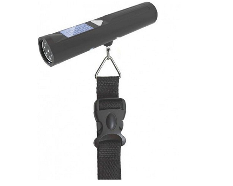 Portable travelling scale and torch