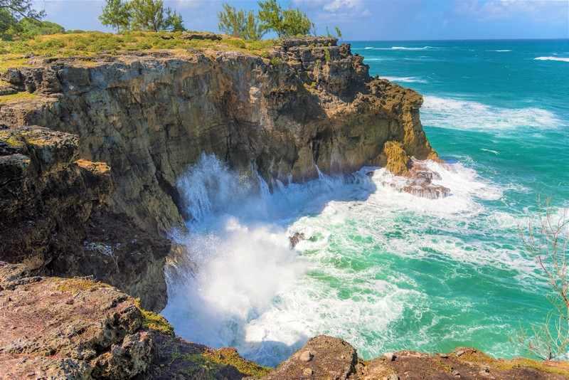 cliffs in Barbados