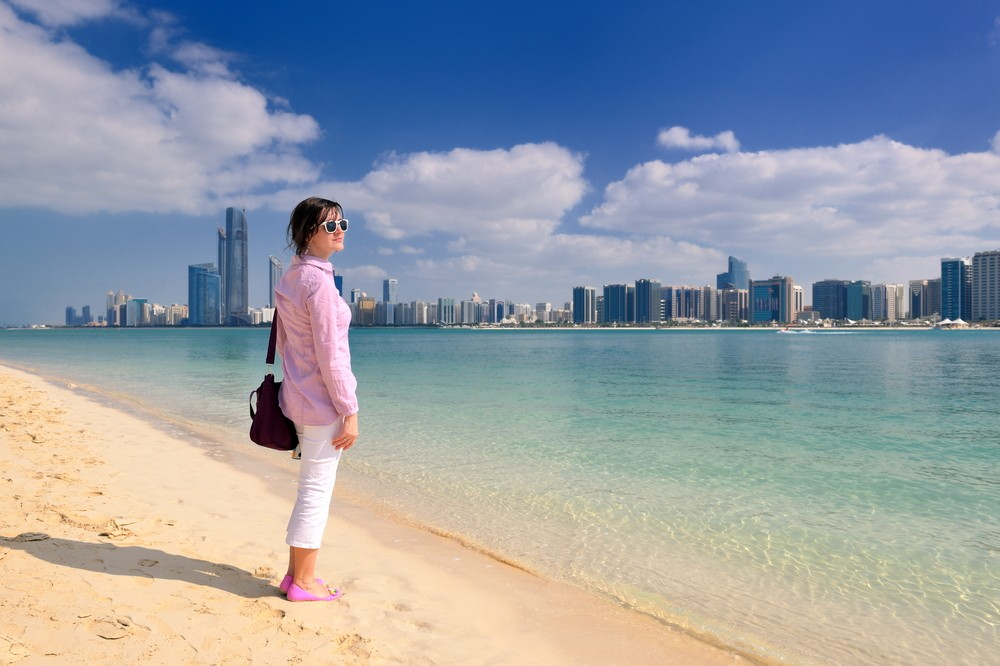 woman on the beach in Dubai