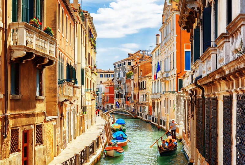 waterways of Venice, Italy
