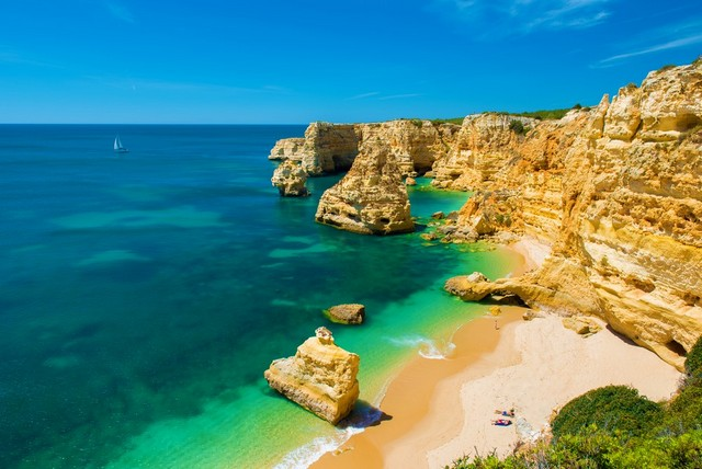 beautiful beach in the Algarve