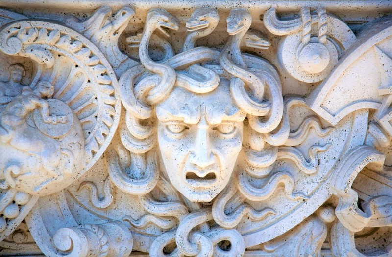 Medusa Carving