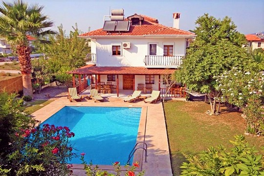 Turkey villa, private pool, balcony views