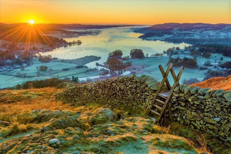 sunset lake District