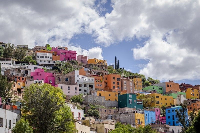 View of the colorful city of Guanajuato in Mexico