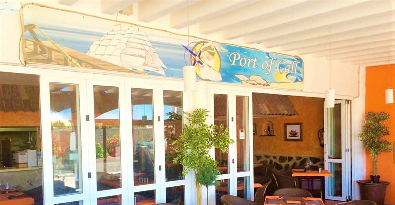 The Port of Call in Playa Blanca