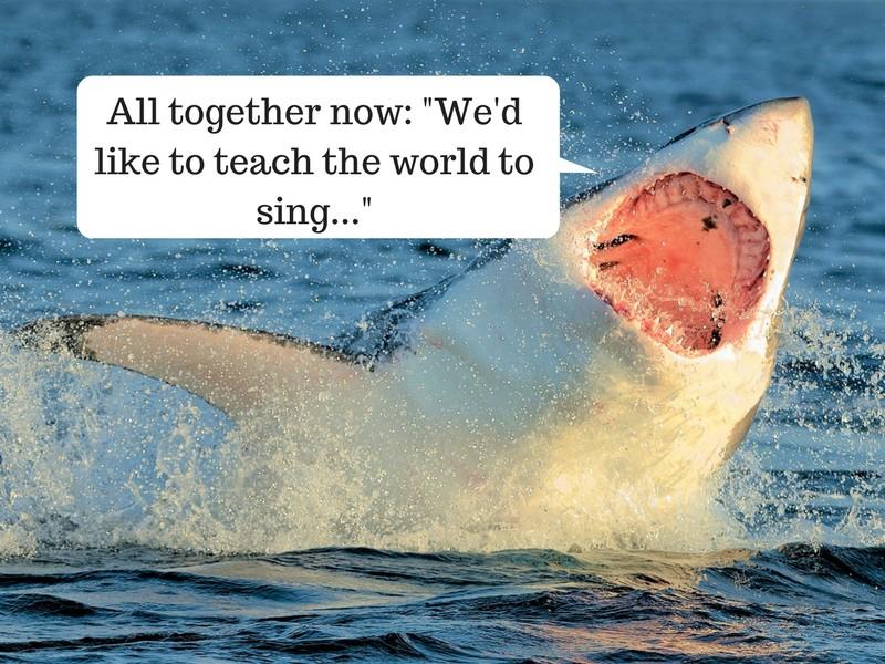 singing shark