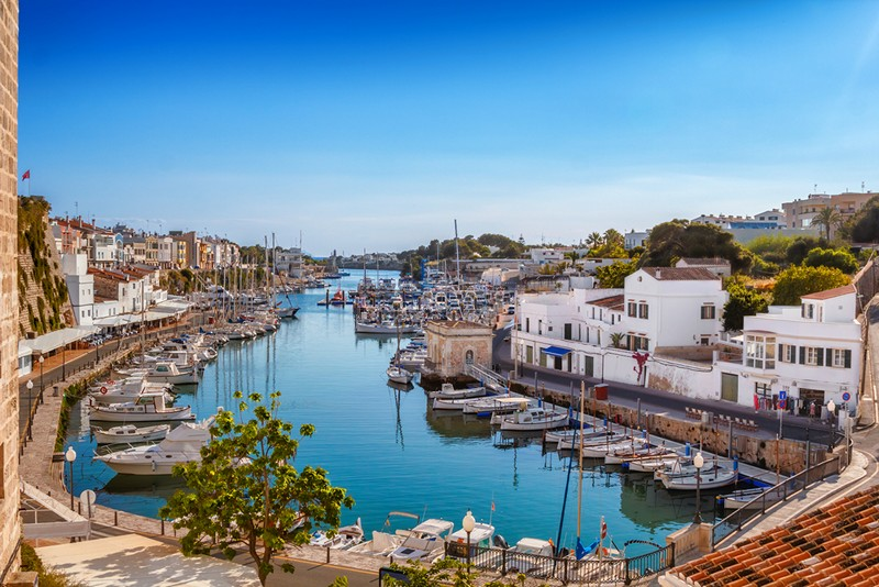 sunny port in Spain