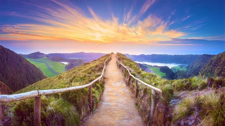 Beautiful Portugal sunset