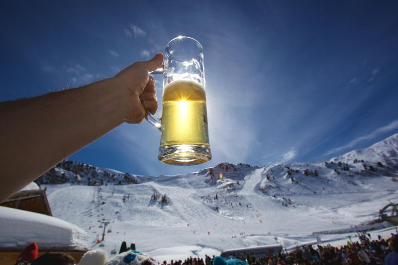 Apres ski beer