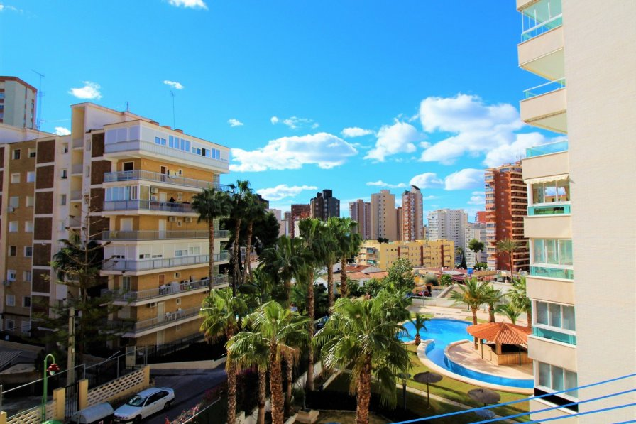 Benidorm apartment window view