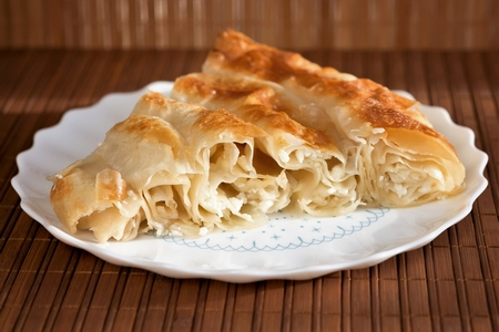 Bulgarian cheese banitsa