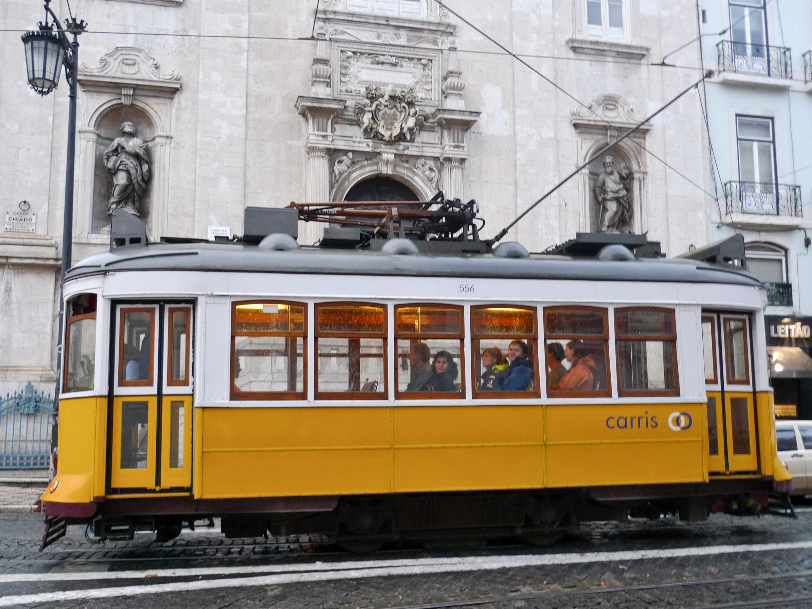 A_yellow_tram_near_Baixa_Chiado_Lisbon