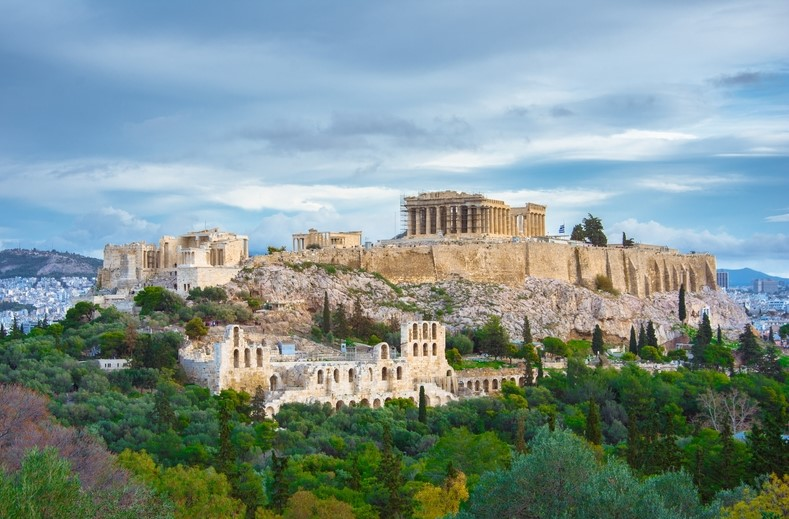 The Acropolis of Athens in Athens City, Greece