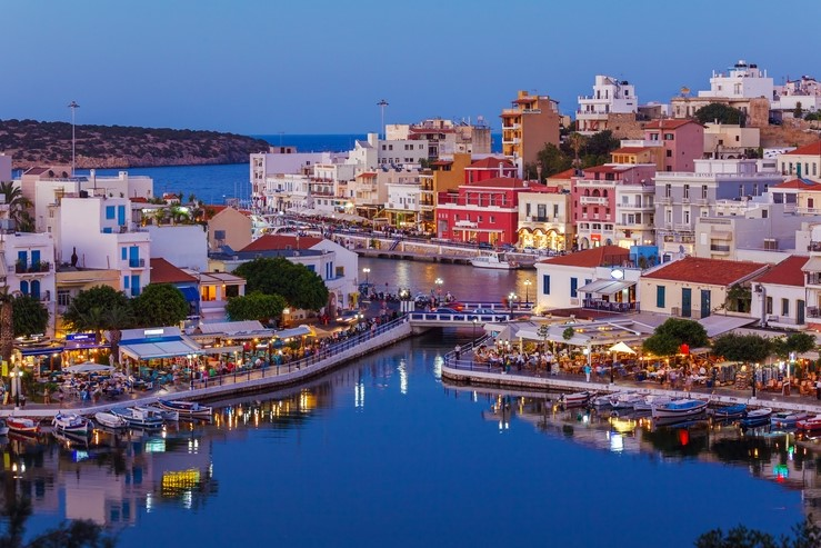 Agios Nikolaos in Crete, Greece