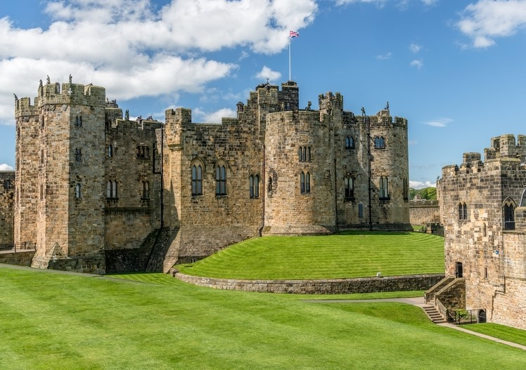 Alnwick Castle in Northumberland
