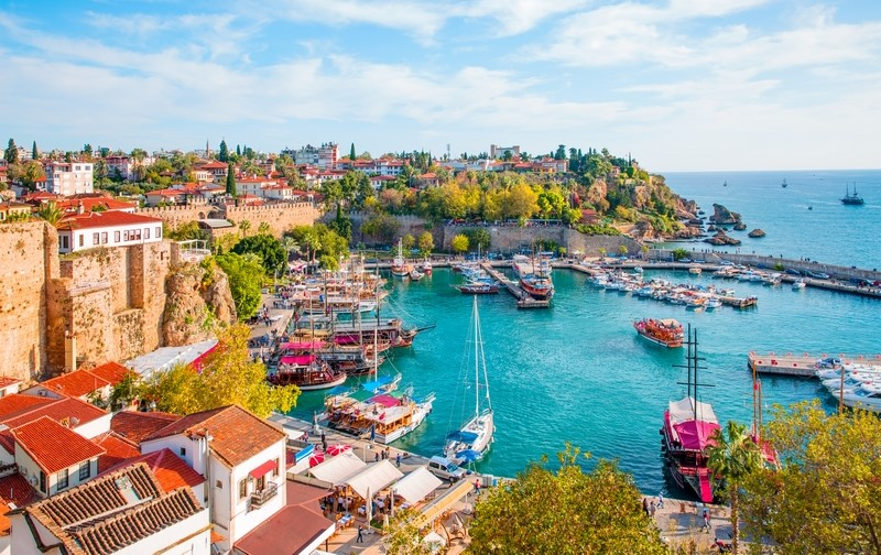 Antalya harbour, Turkey