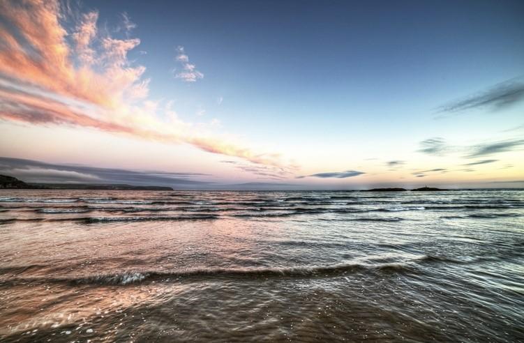 Bantham Beach in Devon, southwest England