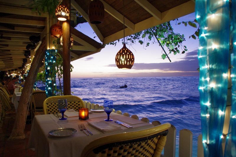 Beach restaurant, Barbados