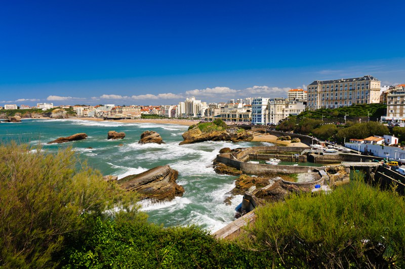 Biarritz France Sea