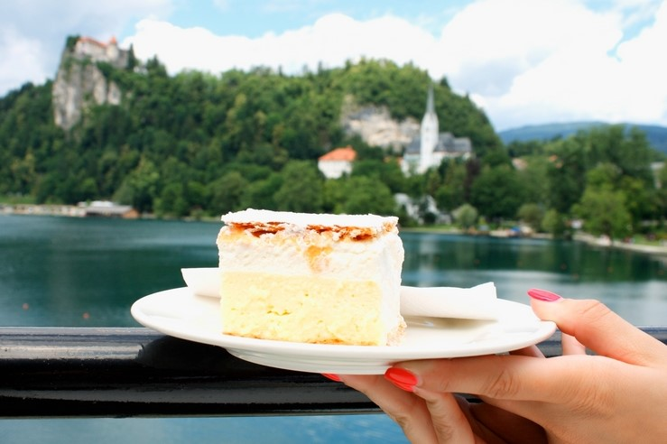Traditional Slovenian Bled cream cake