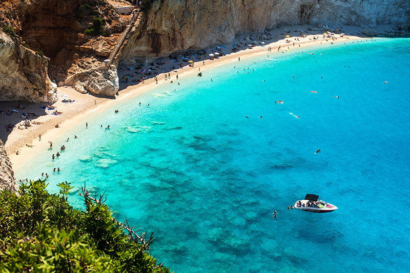 Petani beach in Kefalonia