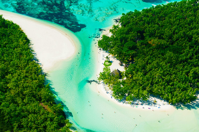Blue Lagoon in Mauritius