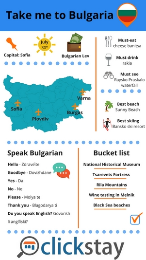 Clickstay Bulgaria infographic