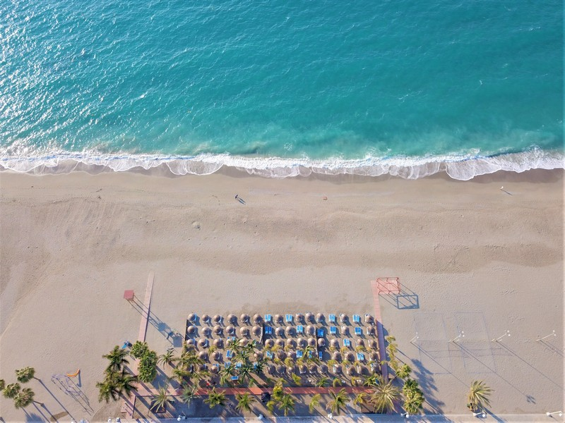 Burriana beach, Nerja, from above