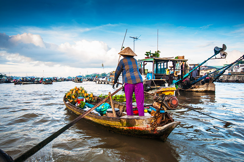 Can Rang floating market Can Tho Vietnam