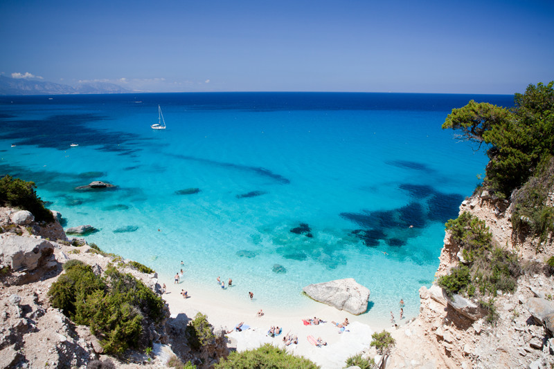 Sardinia Beach Italy Clear Blue Water