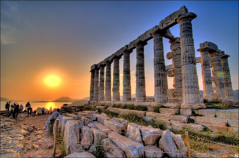 Cape-Sounion-sunset