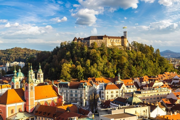 Ljubljana Castle in Slovenia
