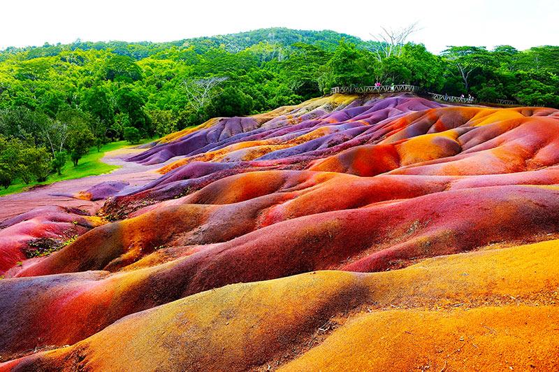 Chamarel seven coloured earth