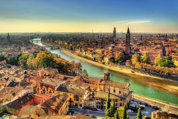 UNESCO protected City of Verona, Italy