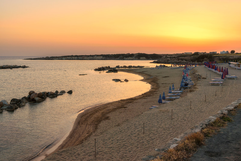 Sunset in Paphos, Cyprus