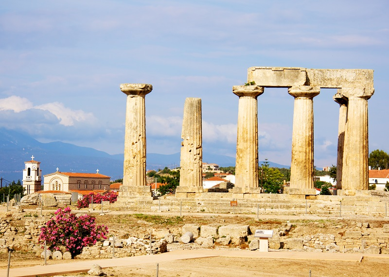 Corinth, a city on the Greek Peloponnese