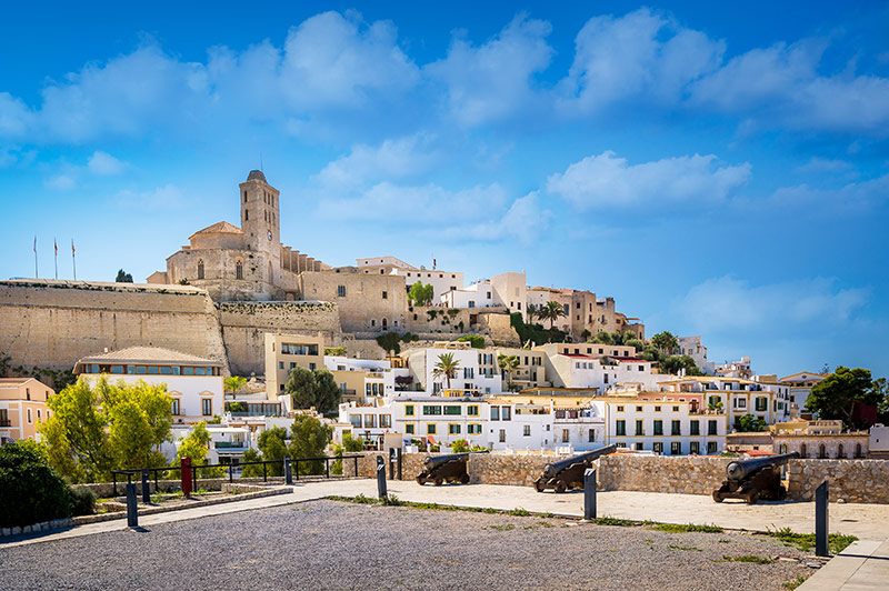 Dalt Vila Fortress in Ibiza, Spain