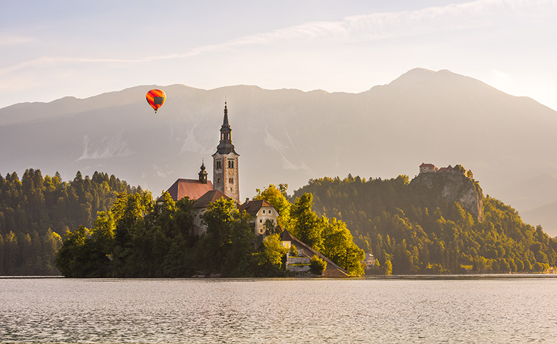 Hot air balloon in Slovenia