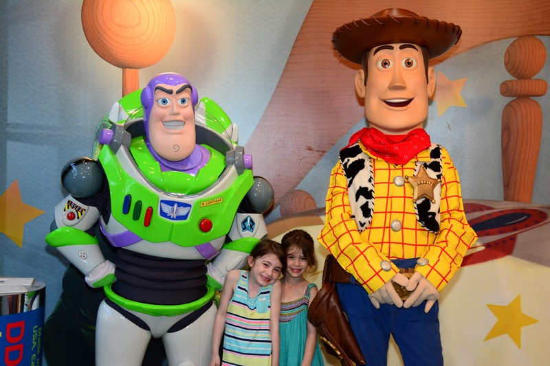 Woody and Buzz with Children