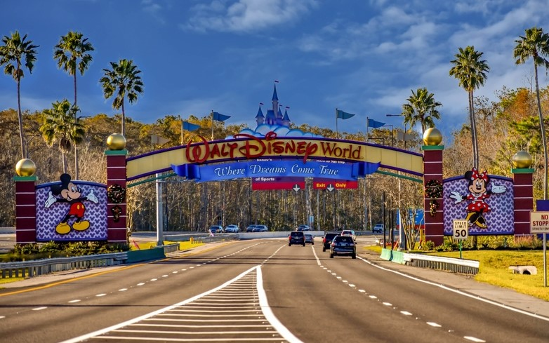 Walt Disney Resort entrance in Florida