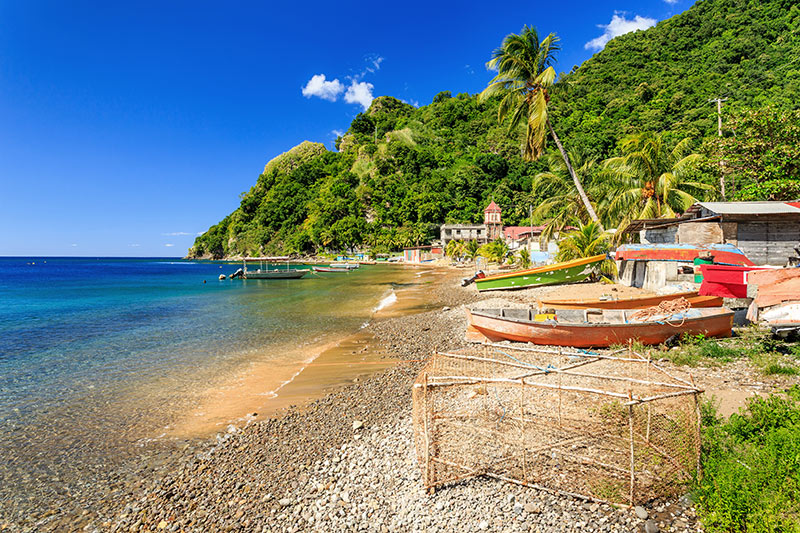 Dominica island boats